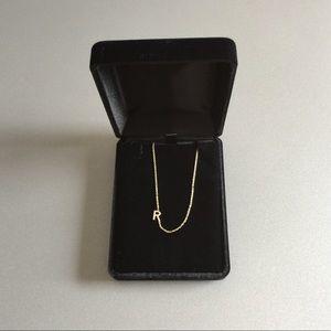 ZoeLev Jewelry Jewelry - Sideways Initial R Necklace