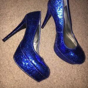 G by Guess Shoes - G By Guess Blue Sparkly Pumps