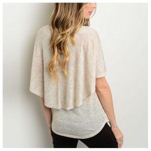 Tops - 🌵HP🌵Cream Flutter Back Knit Top