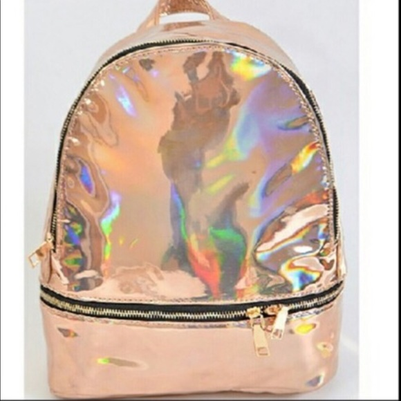 2ba7cb8da42a Rose Gold Metallic Fashion Backpack Purse, New! Boutique