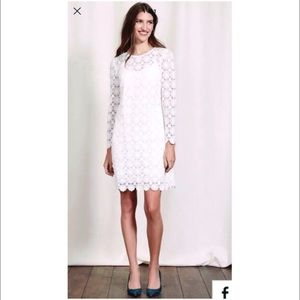 Boden White Embroidered Lace Dress 2