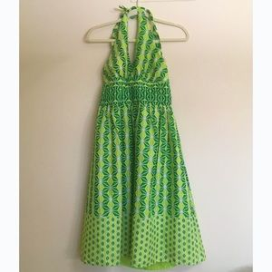 Amanda Lane Dresses & Skirts - AMANDA LANE Sun Dress Halter Top Lime Green Lined