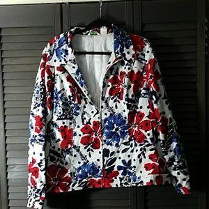 Laura Ashley Jackets & Blazers - Gorgeous Floral Patriotic Jacket
