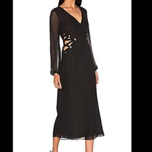 LPA Dresses & Skirts - LPA Long Black Chiffon Dress