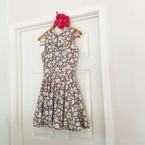 {maison jules} 🌿 blush pink striped floral dress