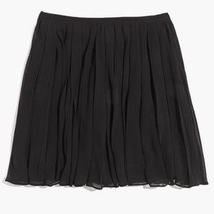 SALE Madewell Pleated Georgette Skirt Black