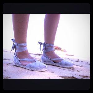 Toms Shoes - SALENew TOMS Bella espadrilles tie ankle flats 8.5