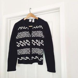 {emma james} 🌿 black and white knit jacket