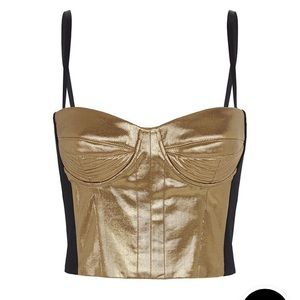 Sass & Bide Happy Up Here Gold Corset
