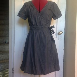 Chambray GAP Wrap Dress Sz XS