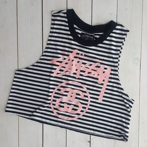 Stussy Tops - Stussy Graphic Crop