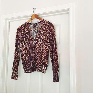 {lucky brand} 🌿 leopard print cardigan