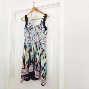 {bcbgmaxazria} 🌿 avant-garde asymmetrical dress
