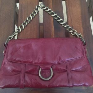 "Hobo International Red Leather Clutch 9""x5"""