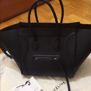 Celine Handbags - Celine Medium Phantom Luggage Tote Navy