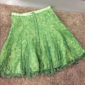 Geoffrey Beene Dresses & Skirts - Silk Geoffrey bean light green skirt. Size 10