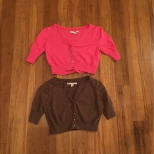 Old Navy Brown and Pink Cardigans Size Small