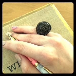 nOir Jewelry Jewelry - nOir Ember CZ Pave Dome Ring