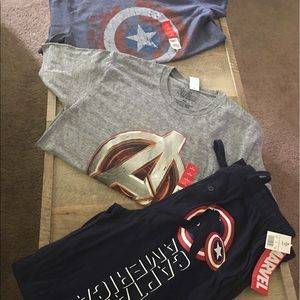 Marvel Other - Captain America (2) Shirts (1) Pair of Pants Small
