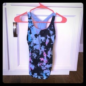 Ivivva Other - Ivivva black blue and pink racerback tank top