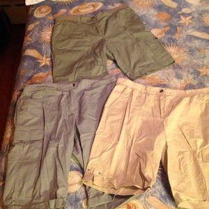 Laura Ashley Pants - Lot of 3 Women's Cargo Shorts