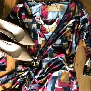 Venus faux wrap dress