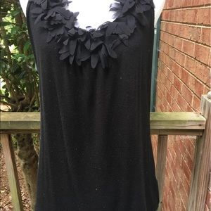 NWOT Top with Flower Detail