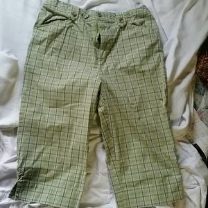 White Stag Pants - Summer Stretchy Capri pants, Size 6
