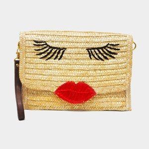 Handbags - NWT KISSY FACE WRISTLET CLUTCH BAG