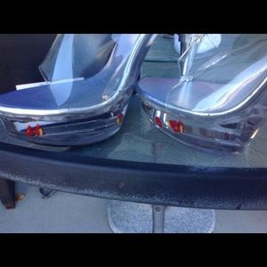 Shoes - Lucite fish heels size 10
