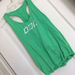 Awesome green logo Lorna Jane workout top.