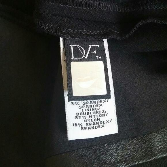 Diane Von Furstenberg Leather Skirt 23