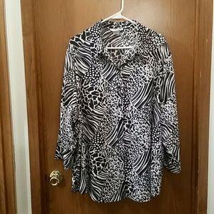 Alia Tops - Sheer button up shirt, Size 24W