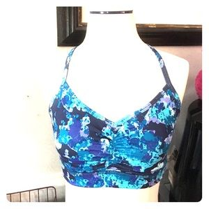 Beautiful & SOFT blue floral sport bra. Old Navy