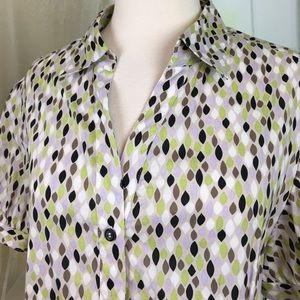 George Tops - George Multi Colored Short Sleeved Blouse