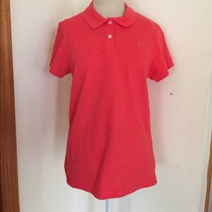 Lilly Pulitzer Orange Polo Shirt L