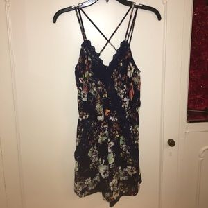 Urban Outfitters Dresses & Skirts - Blue floral print romper