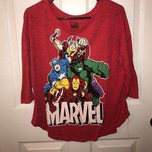 Marvel Tops - Avengers 3/4 sleeve tee