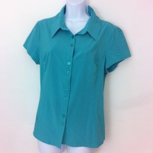 Isis Tops - ISIS seafoam green active wear blouse