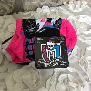 Other - 🌟Monster High No Show Socks 5 Pair NWT🌟