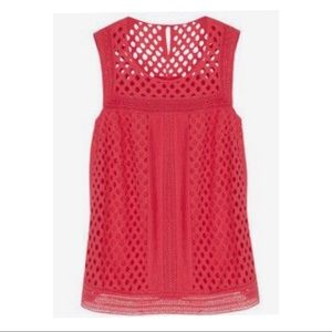 Stitch Fix red Cupertino eyelet top