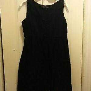 Prana Kendall Black Eyelet Dress M