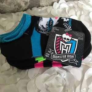 Other - 💥Sparkly Top  Monster High Girls Socks 5 Pack💥
