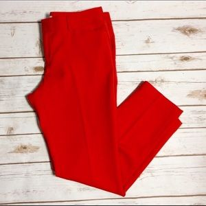 GAP Pants - Poppy Red Gap slim Cropped ankle trousers