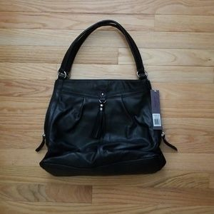 Perlina Handbags - NWT Perlina Black Genuine Leather Yvonne Tote