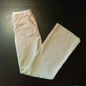 J. Crew Hutton Wide Leg Khaki Pants
