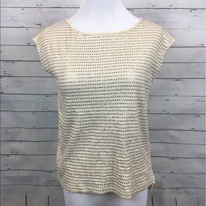 LOFT short sleeve Sequined shirt