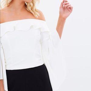 Bardot Tops - NWT Bardot Mica Ruffle Top