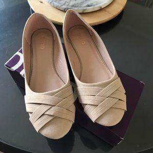 Ollio Shoes - Nude flat