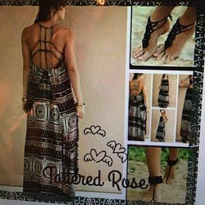 Entro Dresses & Skirts - Beautiful Hi Lo braided back maxi